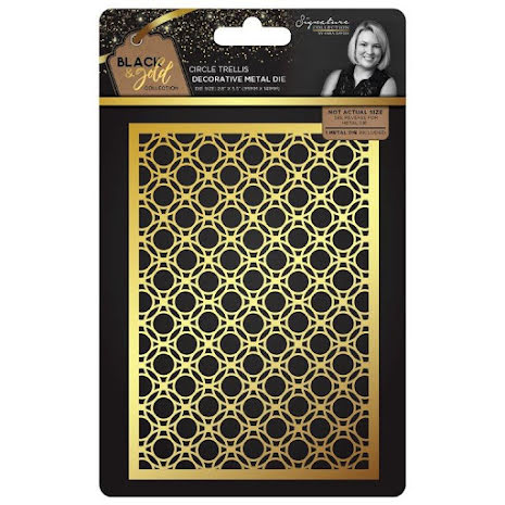 Sara Davies Black & Gold Metal Die - Circle Trellis
