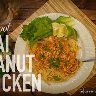 Crockpot Thai Peanut Chicken.