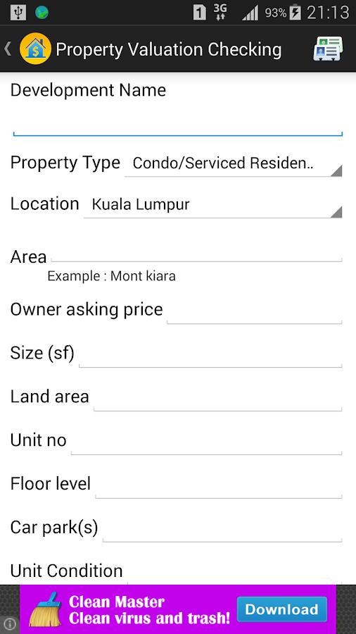Housing Loan Calculator Screenshot