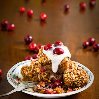 Cranberry-Orange Almond Pudding