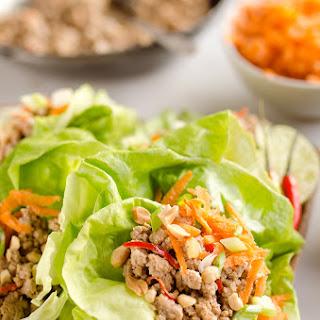 Turkey Thai Peanut Lettuce Wraps