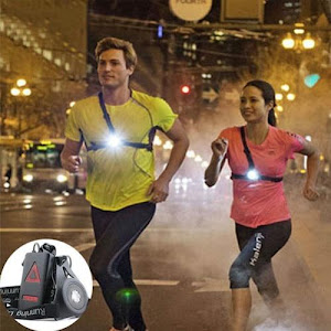 Lanterna LED 180 lumeni, prevazuta cu ham, ideala pentru alergare