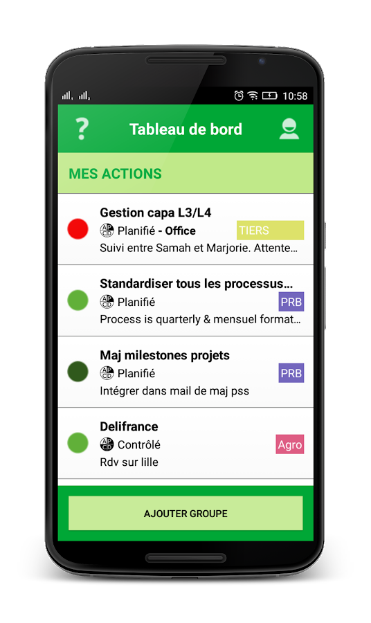 LeanDesk Lean Management tool – Capture d'écran