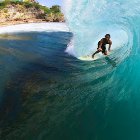 Tube time again  by Trevor Murphy - Sports & Fitness Surfing ( bali, waves, barrel )
