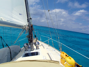 Photo: Sailing in the southern Abacos