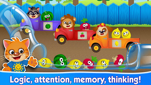 Funny Food educational games for kids toddlers - screenshot