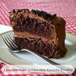 Chocolate Cake with Chocolate Ganache Frosting.