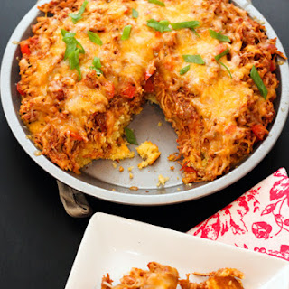 BBQ Chicken Cornbread Pie