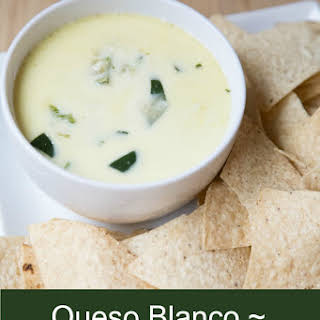 Queso Blanco Dip or White Mexican Cheese Dip.