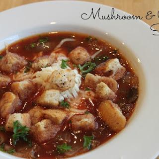 Comforting Mushroom & Onion Soup