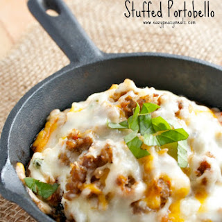 Lasagna Stuffed Portobello.