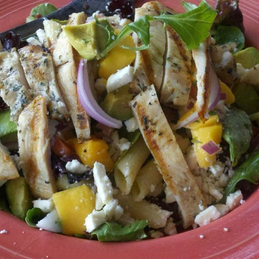 Barbecue Pork And Penne Skillet Recipe: Grilled Chickenmango Penne Rigate Salad Recipe