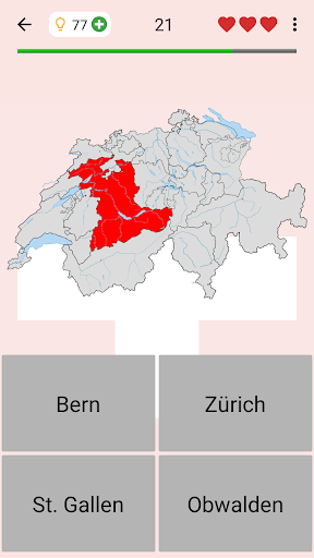 Swiss Cantons - Quiz about Switzerland's Geography apkpoly screenshots 1