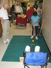 Photo: 3-24-2012. Croquet Alley. Practice shots taken at our club booth during the town of Sandwich's Wellness fair.