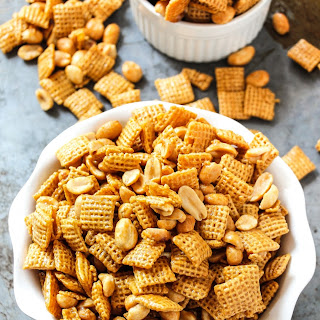 Easy Microwave Pay Day Chex-Mix