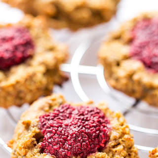 Peanut Butter + Jelly Quinoa Breakfast Cookies