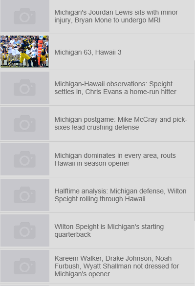 Michigan Football Database- screenshot