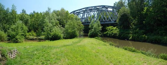 Photo: widać miejsce, gdzie Biała Przemsza łączy się z Brynicą i powstaje Czarna Przemsza