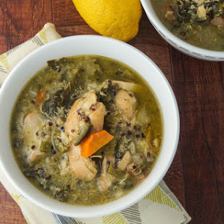 Slow Cooker Sunday: Chicken Quinoa Soup with Kale.