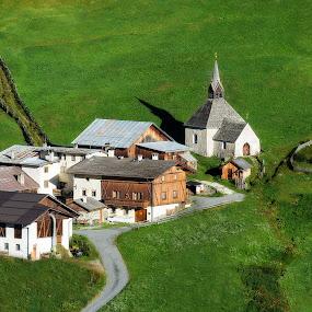 tahe village of the elves  by Lorenzo Moggi - Landscapes Travel ( venosta valley, village, green grass )