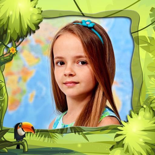 子供ジャングルフォトフレーム 攝影 App LOGO-APP試玩