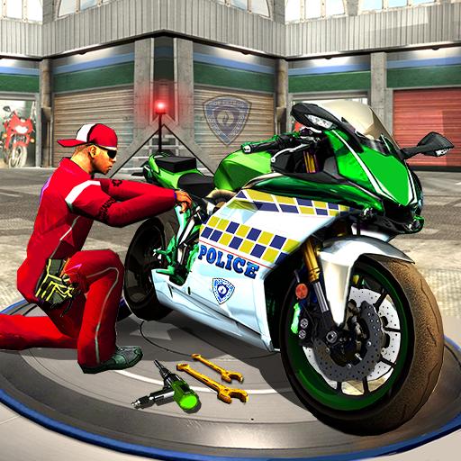 Police Moto Mechanic Workshop