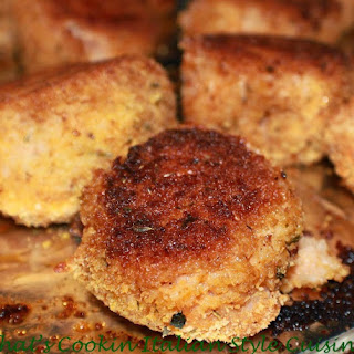 Baked Rice Balls Meatless Recipe Video.