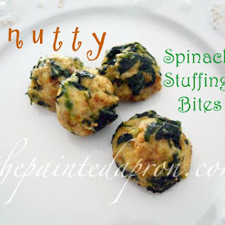 Nutty Spinach Stuffing Bites