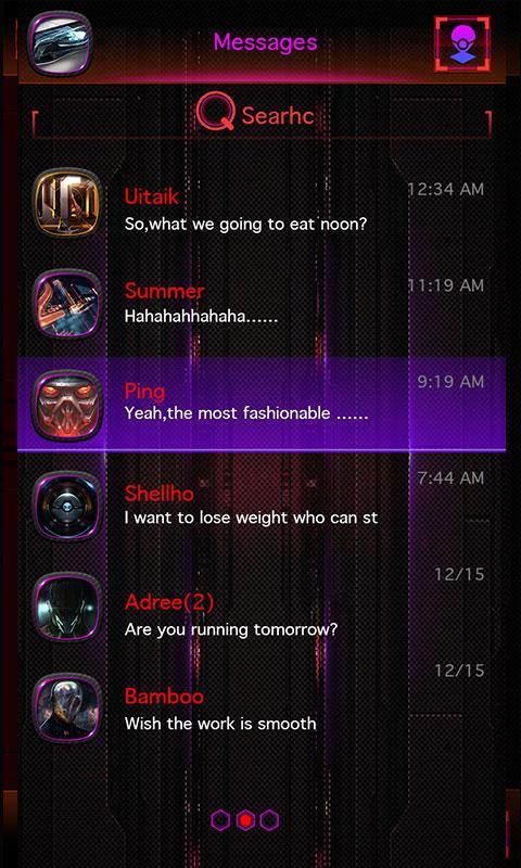 Скриншот GO SMS PRO LOCOMOTIVE THEME