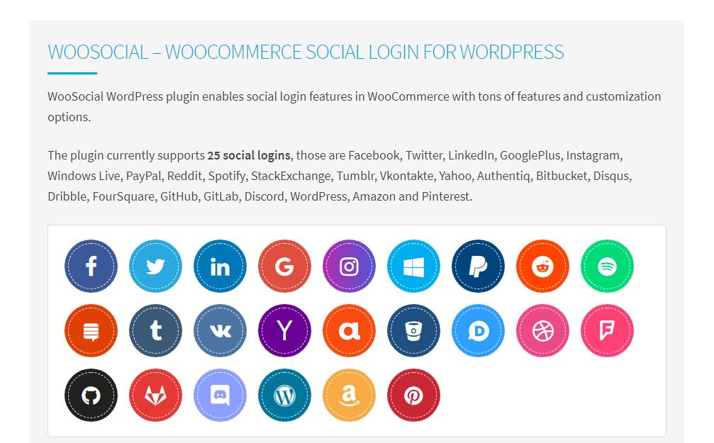 wordpress woosocial social login plugin