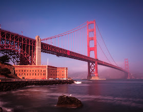 Photo: Ain't She Golden  The view of the Golden Gate Bridge from Fort Point is classic. I enjoyed every minute I was at this park. There were even some seals playing around just off shore which added to the fun. They were a little camera shy though so I left them alone.  I've had a fascination with the bridge since I was a kid growing up in Novato. So standing at this park just marveling at it brought back great memories and dreams. One such dream was to stand at the top of one of the towers to enjoy the view of the bay. I think I'll hold onto that dream.  #architecture  #bridgesaroundtheworld