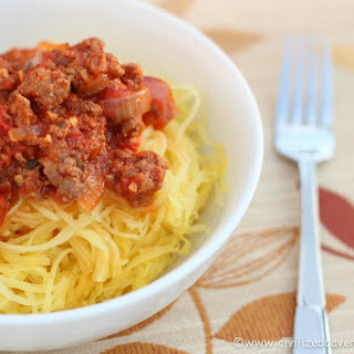 """""""Spaghetti"""" with Roasted Red Pepper Sauce Recipe"""