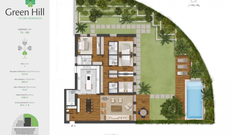 Appartement avec terrasse et piscine Estoril