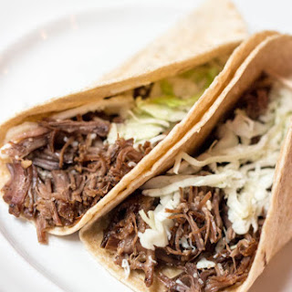 Slow Cooker Coca-Cola Life Korean Beef Tacos.