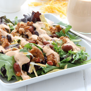Southwestern Chili Taco Salad with Chipotle Ranch Dressing