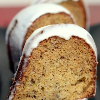 Banana Rum Bundt Cake with Rum Glaze