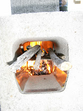 Photo: Testing: Fuel lit and Fire chamber close with fire box. Additional fuel fed into fire