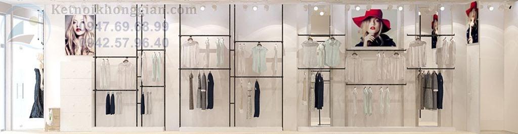 thiết kế shop thời trang nhỏ hẹp