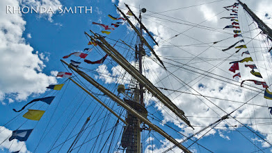 Photo: The sails above the boat - since it was windy out, none of the sails were open.