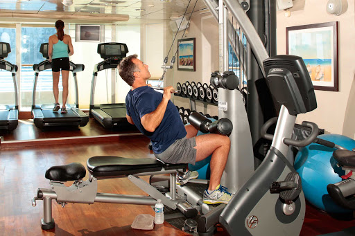 Seadream-workout.jpg - You'll be able to remain in shape by hitting the gym on your SeaDream cruise.