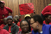 Members of the SACP at the previous parole application of Janusz Walus, on August 7 2018, at the North Gauteng high court in Pretoria.