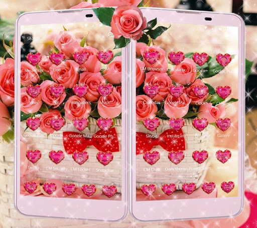 玩免費遊戲APP|下載粉玫瑰情人节玫瑰爱3D桌面主题壁纸 app不用錢|硬是要APP