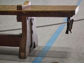 Photo: Dit materiaal was nog niet vervangen, de vloer wel!