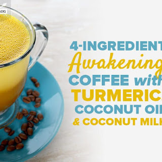 4-Ingredient Awakening Coffee with Turmeric, Coconut Oil and Coconut Milk Recipe