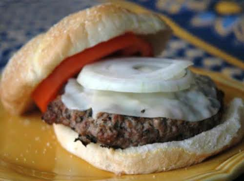 """Juiciest Hamburgers Ever""""They were really great - moist and flavorful. My husband,..."""