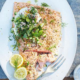 Roasted Salmon with Herbs & Yogurt