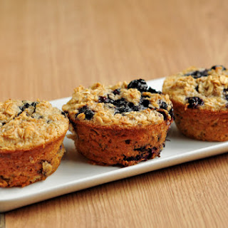 Flour-less Blueberry Oatmeal Muffins.