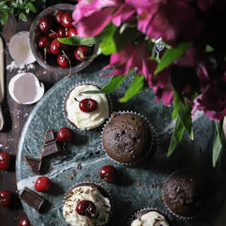 Browned Butter Black Forest Celebration Cupcakes.
