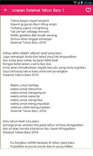 Kata Ucapan Selamat Tahun Baru 2018 - náhled