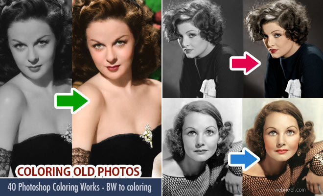 Photo: 40 Photoshop Coloring Works - Colorize old black and white photos: http://webneel.com/webneel/blog/coloring-old-black-and-white-photo-photoshop-25-best-photoshop-works